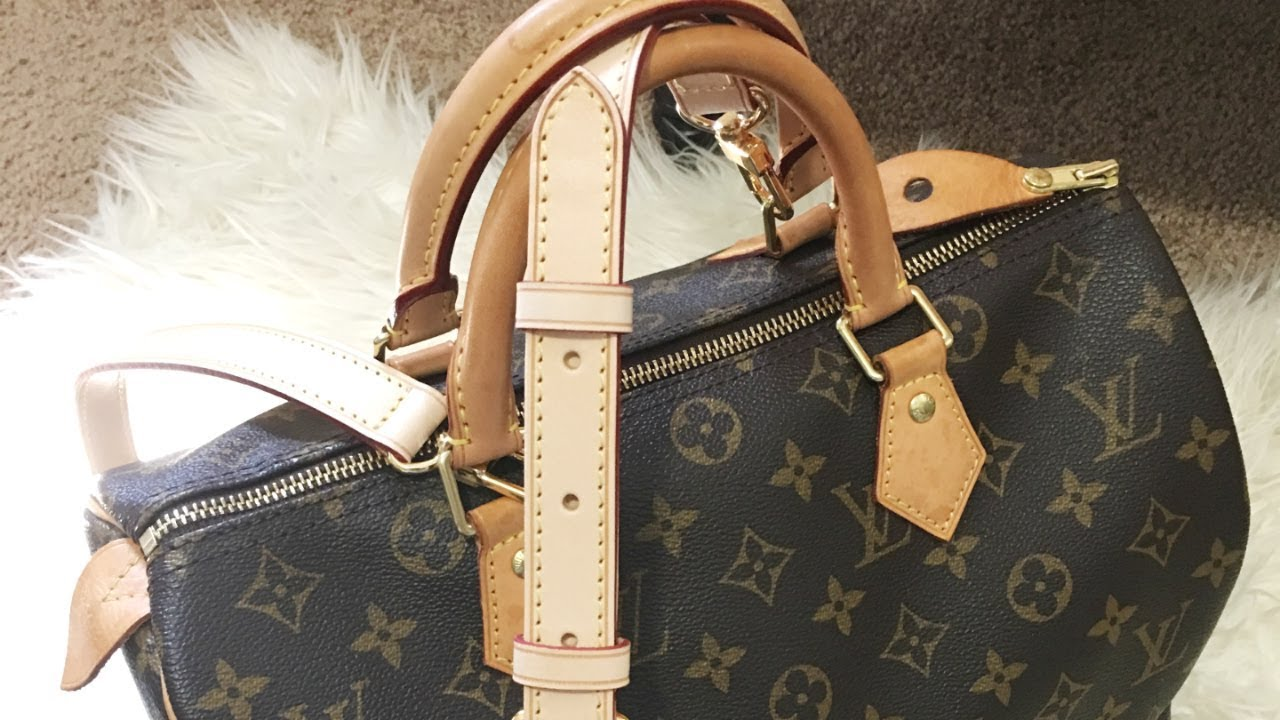 Bandouliere Strap for my Classic Speedy 30   luxyglamlife - YouTube d5c4434353
