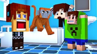 Minecraft : MACACO NA BANHEIRA - Mundo Maluco #04