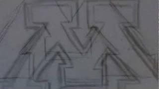 How To Draw The Minnesota Gopher Logo
