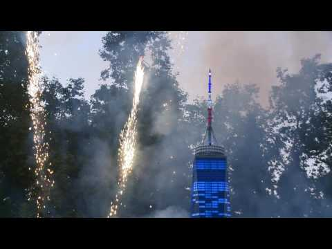 Fireworks Over One World Trade Center in Miniland USA