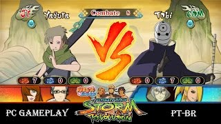 NARUTO SHIPPUDEN Ultimate Ninja STORM Revolution Yagura vs Tobi - PC Gameplay