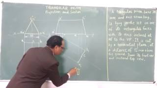 UNIT-3 Triangular Prism: Projection and Section of Solid by Prof. P. Tandon