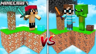DIAMANT HIMMELSINSEL VS ERDE HIMMELSINSEL IN MINECRAFT!?