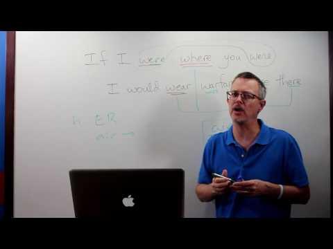 Q&A: WERE vs WHERE vs WEAR vs WARE vs WAR...pronunciation!!!