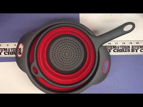 Unboxing/Demo - McoMce Silicone Collapsible Strainer