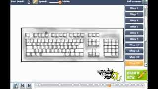 How to draw a Computer Keyboard