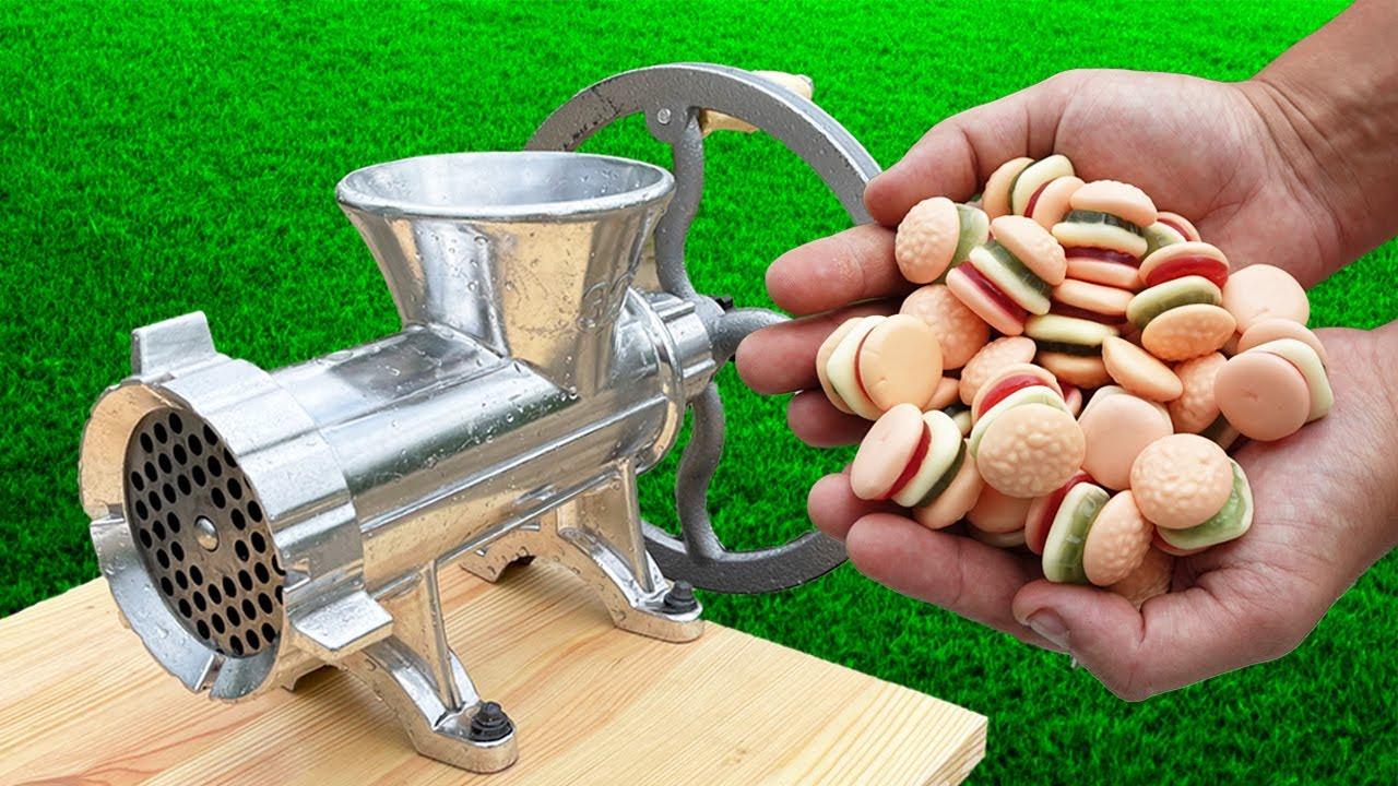 Experiment: Candy Hamburger vs Meat Grinder