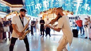 Нереальное Шоу на SOHO Square Шарм Эль Шейх 30 11 19 Sharm El Sheikh Скрипач и Саксафонист Огонь