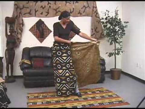 How To Wear An African Wrap Skirt Youtube