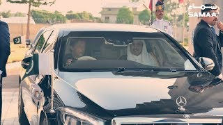 Prime Minister of Pakistan Imran Khan Drives Emir of Qatar to Prime Minister House