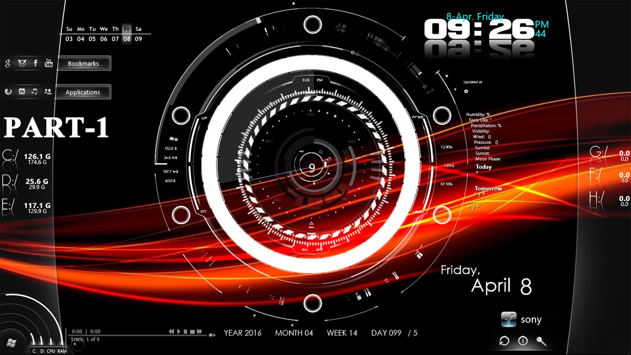 How To Customize Desktop Wallpaper Screen In Windows 7 8 10 With Rainmeter