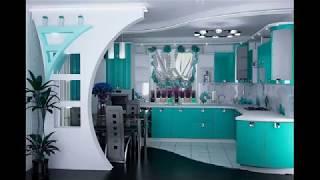 кухни в бирюзовых тонах. обзор