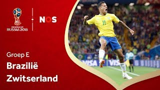 WK voetbal 2018: Samenvatting Brazilië - Zwitserland (1-1)