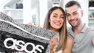 MY HUSBAND DOES MY ASOS HAUL | Lydia Elise Millen