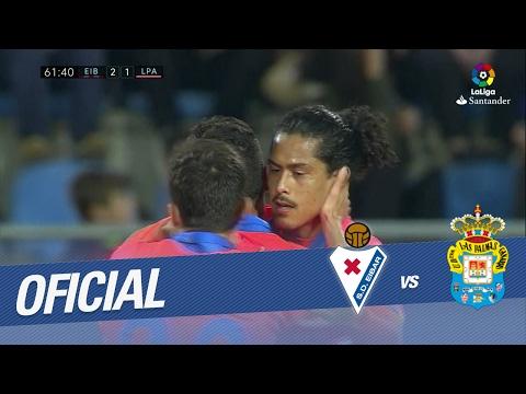 Golazo de Mauricio Lemos (2-1) en el SD Eibar vs UD Las Palmas