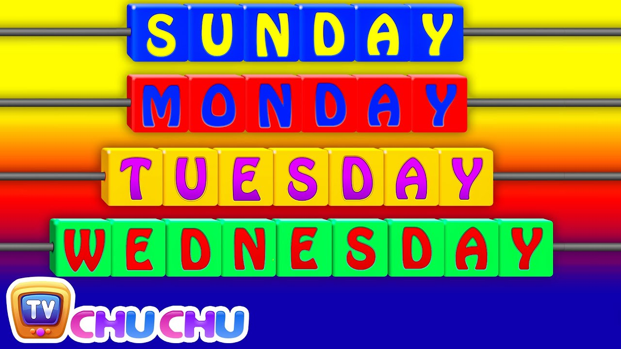 Days of the Week Song - 7 Days of the Week – Nursery Rhymes & Children's Songs by ChuChu TV