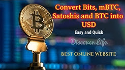 How to convert Bits, mBTC, Satoshis, and BTC into USD Easy and Fast BTC Converter Online
