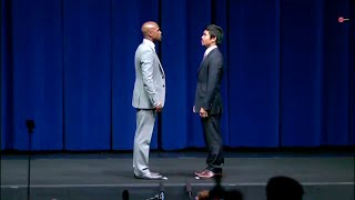 USA: Mayweather and Pacquiao face off ahead of