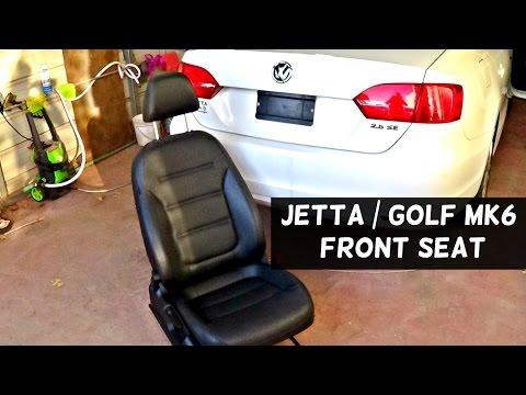 VW JETTA MK6 FRONT SEAT REMOVAL   VW GOLF MK6