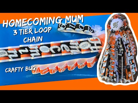 3 TIER HOMECOMING MUM LOOP CHAIN; homecoming mums braids and chains; DIY HOMECOMING MUMS
