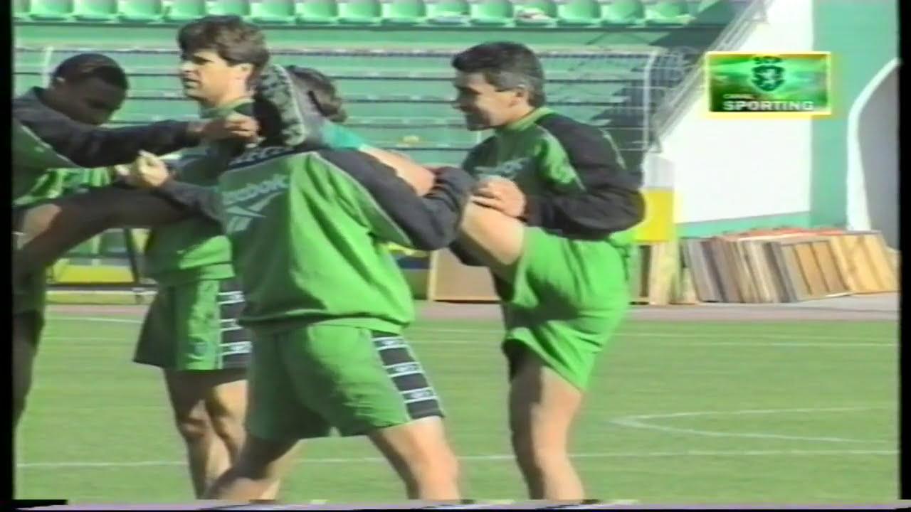 Sporting prepara-se para a deslocação ao terreno do FC Porto em 17/12/1998