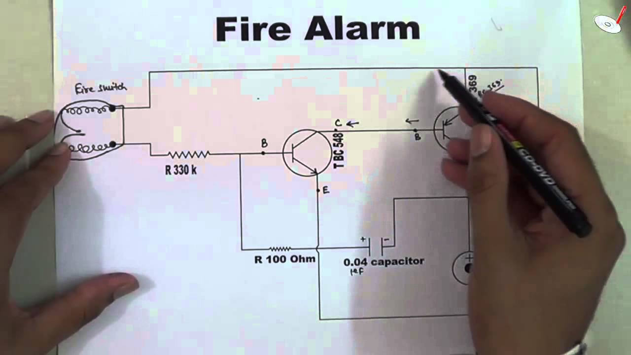How Does A Fire Alarm Electronic Circuit Works By Raj Kumar Thenua Diagram Using Transistor Youtube