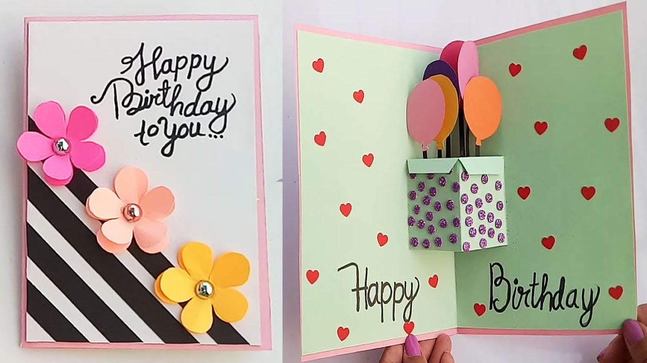 Beautiful Handmade Pop Up Birthday card//Birthday card idea.