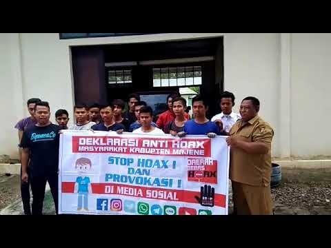 Polres Majene~Deklarasi anti Hoax Peserta pelatihan BLK Kab  Majene
