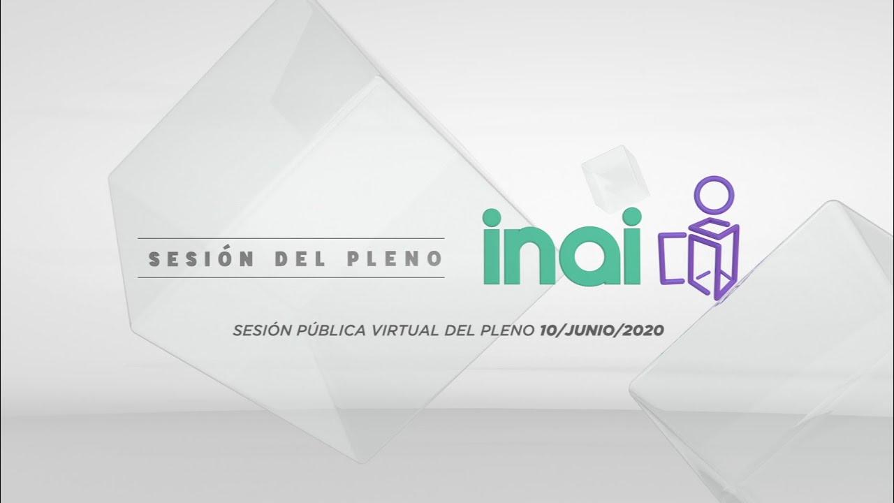 Sesión Pública Virtual del 10 de junio de 2020
