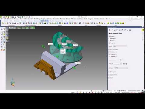 CAD - Dynamic section with box | VISI 2022.0