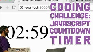 Coding Challenge #66: JavaScript Countdown Timer