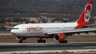 Air Berlin Airbus A330-243 Landing at Palma De Mallorca Airport (PMI-LEPA) with ATC