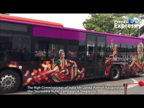 """""""Incredible India"""" campaign in Singapore."""