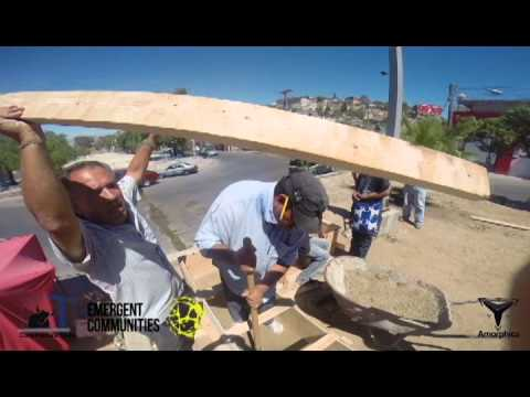 Rammed Earth Urban Furniture - Emergent Communities