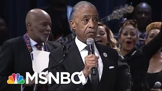 Rev. Al Sharpton Comments On Donald Trump, Reads Obama Letter At Aretha Franklin's Funeral | MSNBC