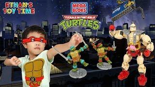 Teenage Mutant Ninja Turtles KRANG'S RAMPAGE Mega Bloks Toy Unboxing Build Play Fun!