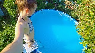 VLOG Heat! Pool! Opened the swimming season June 18, 2018