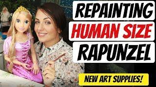 Download REPAINTING BIG RAPUNZEL DOLL / HAUL&TEST NEW ART SUPPLIES ARTEZA   POPPEN ATELIER Mp3 and Videos