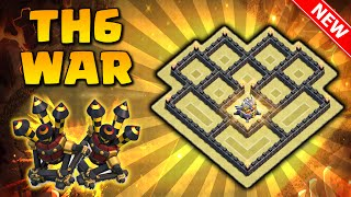 O Melhor Layout Guerra CV6 Com [2x] Defesas Aéreas | TH6 War Base two Air Defense | Clash of Clans