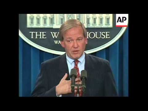 USA: WHITE HOUSE CLINTON/LEWINSKY STARR REPORT BRIEFING