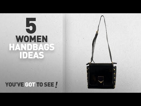 Top 5 Jimmy Choo Handbag [ Winter 2018 ]: Jimmy Choo Leather Black Lacquer Adjustable Strap Women's