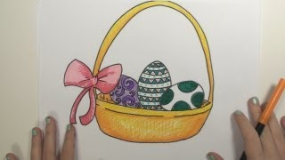 How to Draw Easter Basket MLT