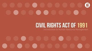 Civil rights act of 1991 -