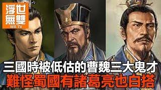 三國時被低估的曹魏三大鬼才,難怪蜀國有諸葛亮也白搭