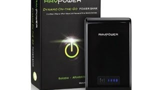 RAVPower Dynamo On the Go RP PB07 10400mAh External Battery