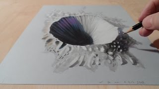 Drawing 3D Crater - How to Draw 3D Crater - Trick Art on Paper