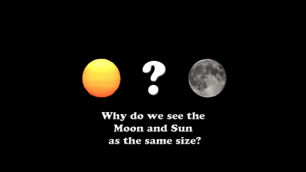 Why Do We See The Sun and The Moon as The Same Size - YouTube