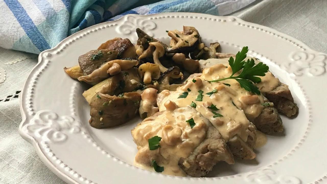 Solomillo De Cerdo A La Sal Con Salsa De Setas Recetas Fáciles De Navidad
