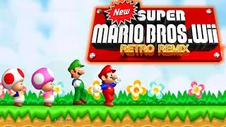 New Super Mario Bros. Wii Retro Remix [FULL GAME/100%] Walkthrough