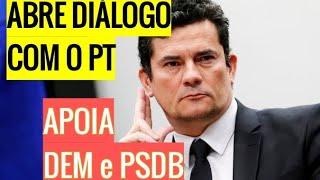 MORO abre diálogo com o PT e se APROXIMA do DEM e PSDB, VAZA possível áudio do Min. da SAÚDE